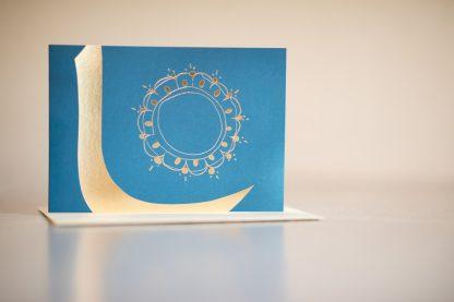"""Kunstkarte """"Inspiration Blauer Koran"""" - Vorderseite"""